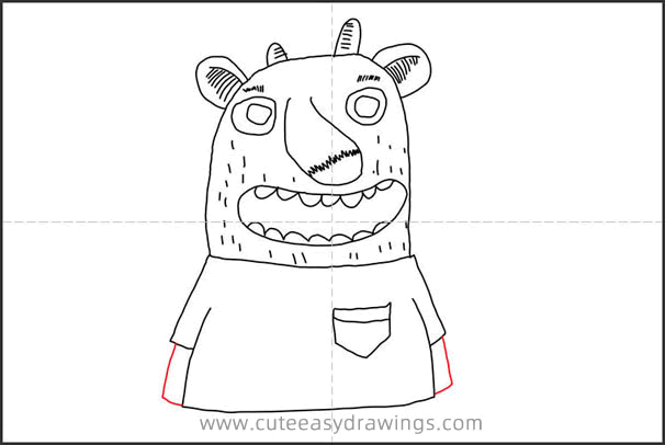 How to Draw a Monster in a T-shirt Step by Step