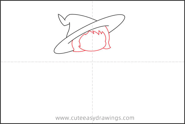 How to Draw a Young Witch Step by Step
