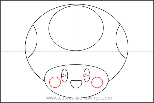 How to Draw Toad Head Step by Step