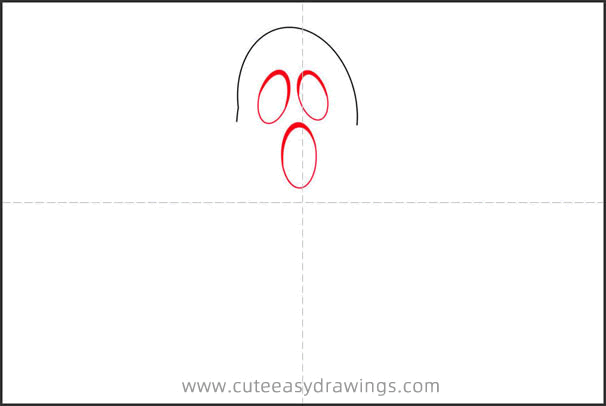 How to Draw a White Ghost Step by Step