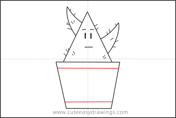 How to Draw a Cartoon Cactus Step by Step