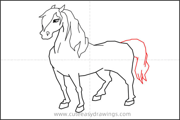How to Draw a Horse Standing Step by Step
