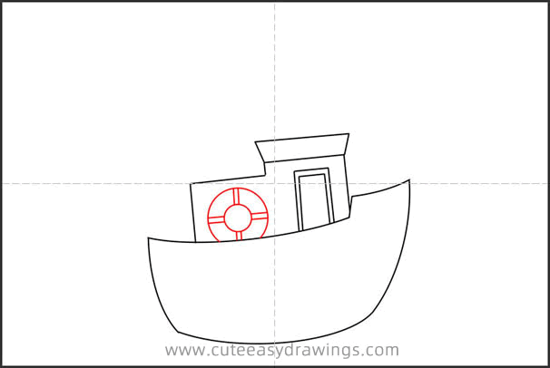 How to Draw a Cartoon Ship Step by Step