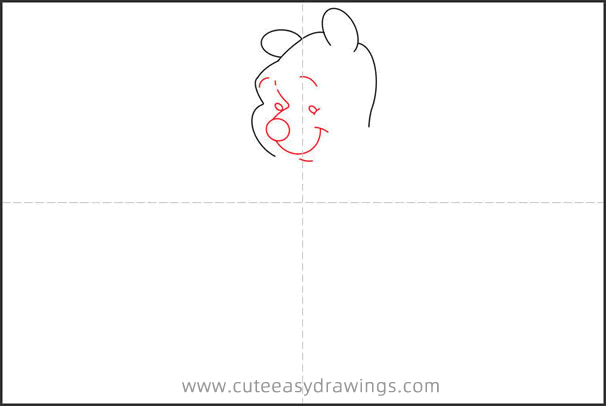 How to Draw Winnie the Pooh with a Card Step by Step