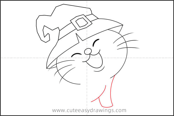 How to Draw a Halloween Cat Step by Step