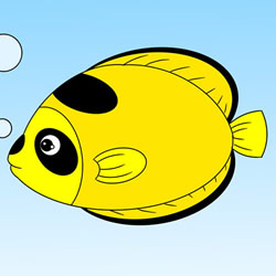 How to Draw a Cute Tropical Fish Step by Step