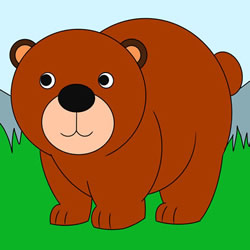How to Draw a Brown Bear Step by Step