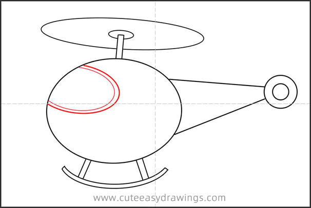 How to Draw a Helicopter Flying Step by Step
