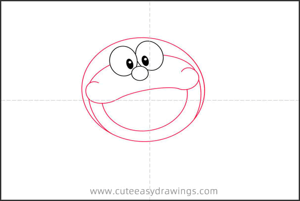 How to Draw Doraemon Flying Step by Step