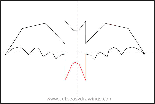 How to Draw a Cute Vampire Bat Step by Step
