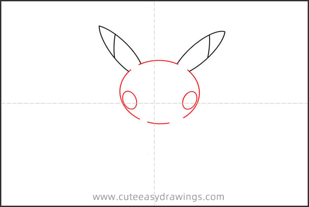 How to Draw a Pikachu Sitting Step by Step