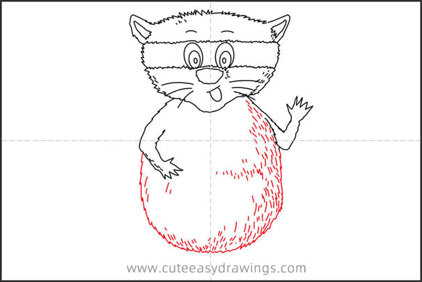 How to Draw a Raccoon Step by Step