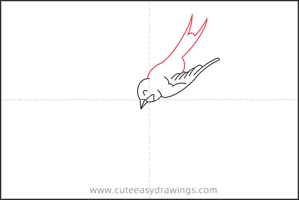 How to Draw a Mother Swallow with Baby Step by Step