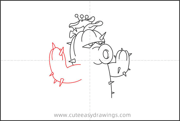 How to Draw Cactus from Plants vs. Zombies Step by Step