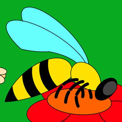 How to Draw a Bee on a Flower Step by Step