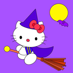 How to Draw Halloween Hello Kitty Step by Step