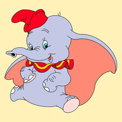 How to Draw Dumbo in the Circus Step by Step