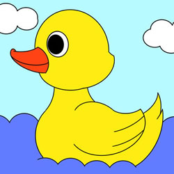 How to Draw a Duckling in the Water Step by Step