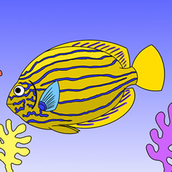 How to Draw a Tropical Fish in the Ocean Step by Step