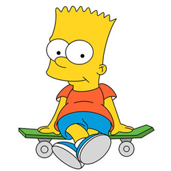 How to Draw Bart Simpson on a Skateboard Step by Step