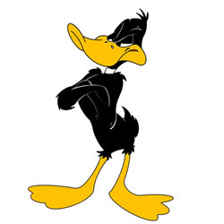 How to Draw Daffy Duck Front View Step by Step