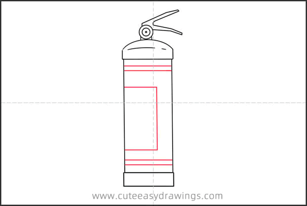How to Draw a Fire Extinguisher Step by Step