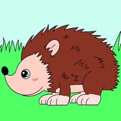 How to Draw a Hedgehog in the Grass Step by Step