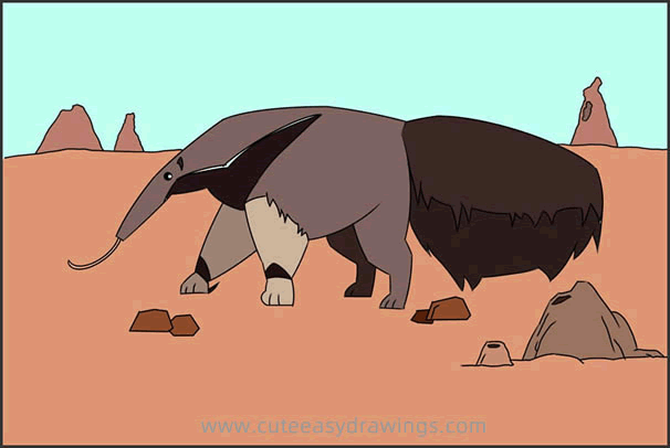 How to Draw a Giant Anteater Step by Step