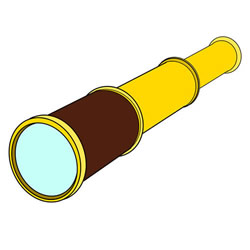 How to Draw a Monocular Step by Step