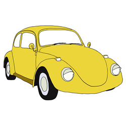 How to Draw a Retro Car Step by Step