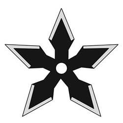 How to Draw a Shuriken Step by Step