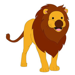 How to Draw a Funny Lion Step by Step