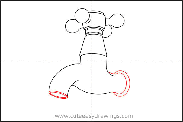 How to Draw a Faucet Step by Step