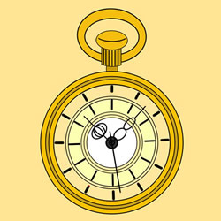 How to Draw a Pocket Watch Step by Step