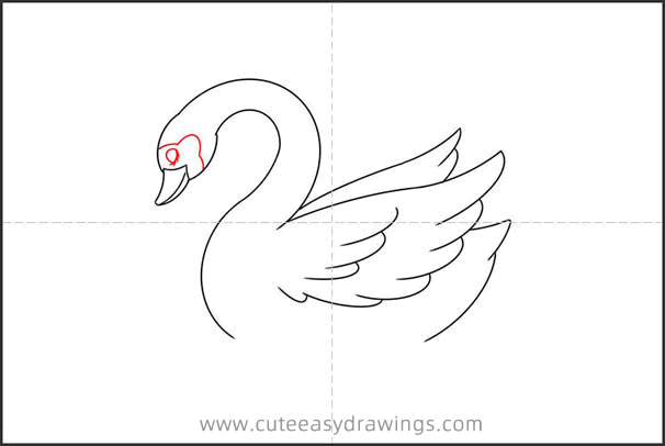 How to Draw a Swan in the Water Step by Step