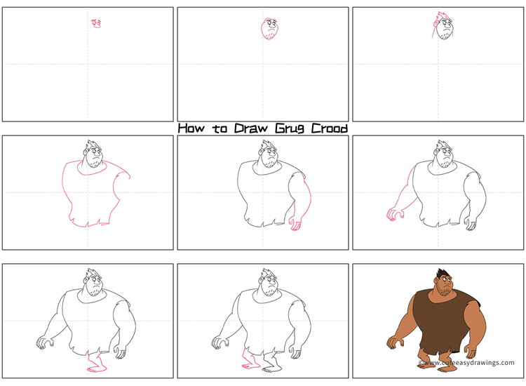 How to Draw Grug from The Croods