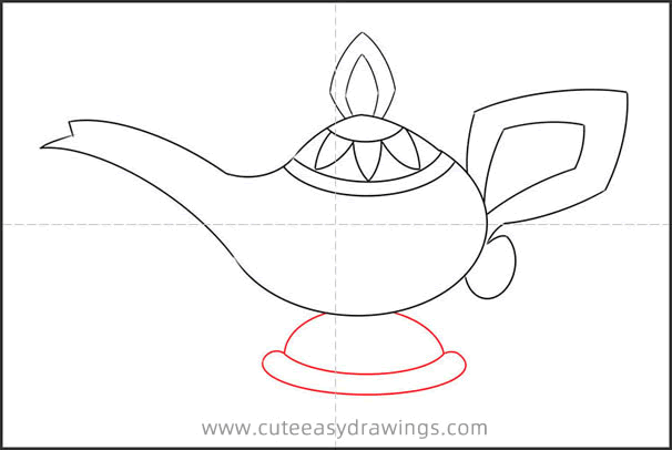 How to Draw the Magic Lamp from Aladdin
