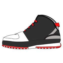 How to Draw a Basketball Shoe