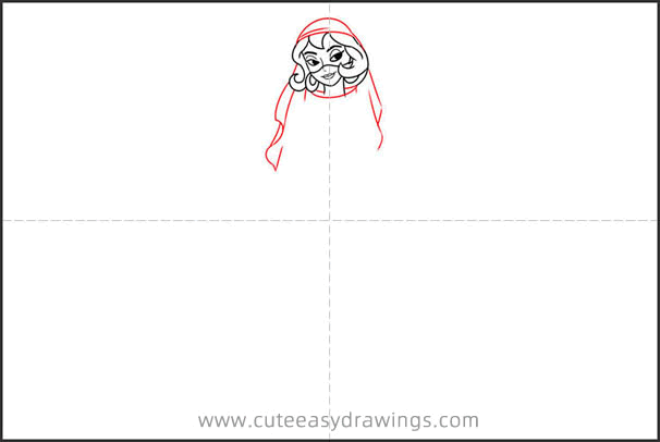 How to Draw a Harem Girl from Aladdin
