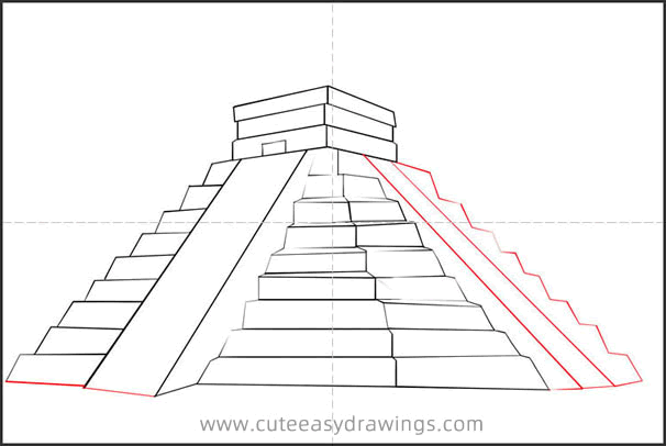 How to Draw the Mayan Temple