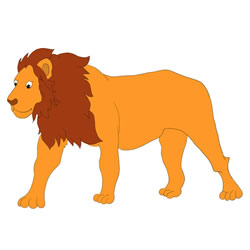 How to Draw a Lion Standing