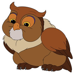 How to Draw the Friend Owl from Bambi