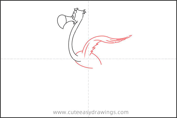 How to Draw the Flamingo from Alice in Wonderland