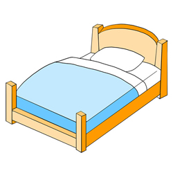 How to Draw a Cute Bed