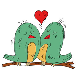 How to Draw Birds in Love
