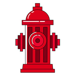 How to Draw an Outdoor Fire Hydrant