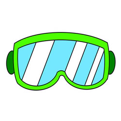 How to Draw Swimming Goggles
