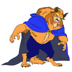 How to Draw The Beast Disney