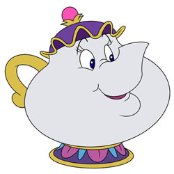 How to Draw Mrs. Potts the Teapot