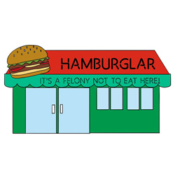 How to Draw a Burger Shop